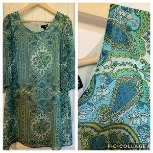 Fully lined medallion dress